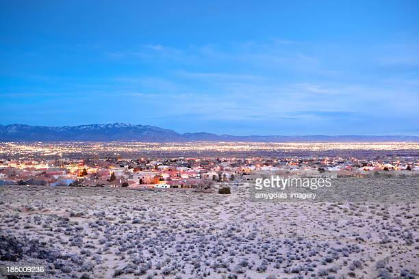 city desert landscape night