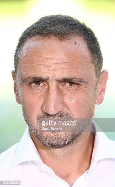 City FC interim coach Michael Valkanis looks on during the round 14 ALeague match between Melbourne City FC and the Western Sydney Wanderers at AAMI...