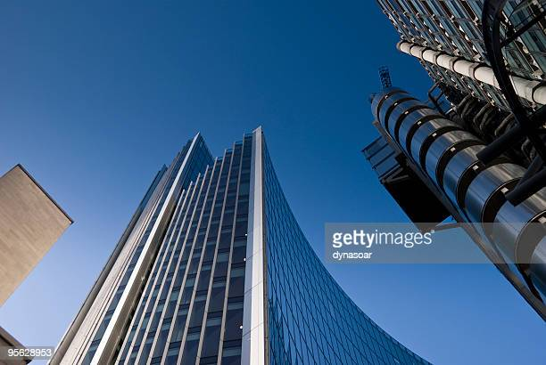 City financial district skyscrapers, including Lloyds of London
