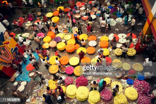City flower market : Stock Photo