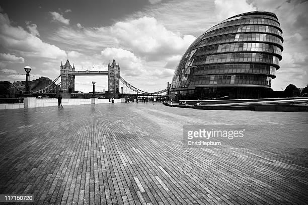 City Hall and Tower Bridge, London
