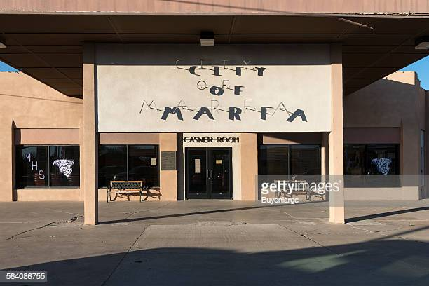 City hall in Marfa a surprising city in Presidio County Texas