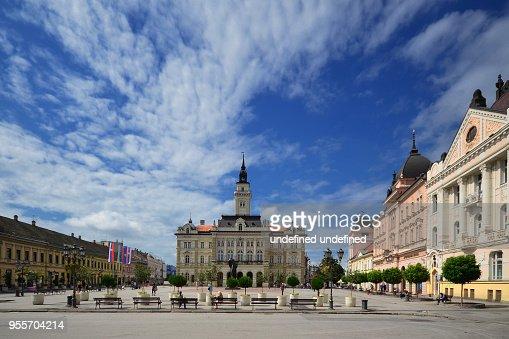 City hall in the center of Novi Sad : Stock Photo