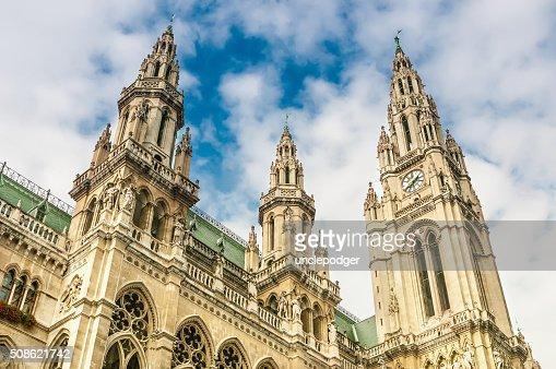 City Hall (Rathaus) in Vienna, Austria : Stock Photo