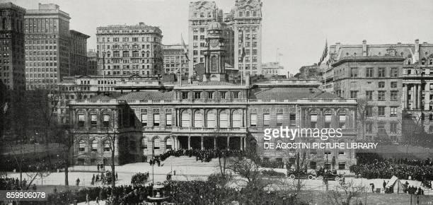 City hall New York United States of America from L'Illustrazione Italiana Year XLIV No 26 July 1 1917