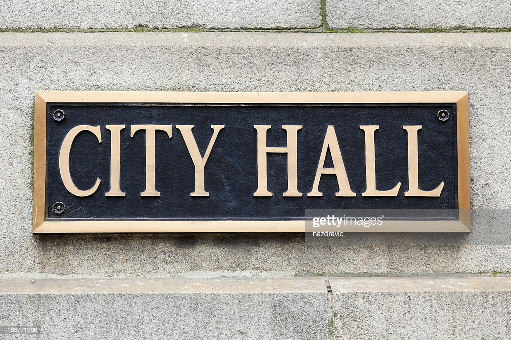 City Hall Sign Municipal Plaque in Chicago