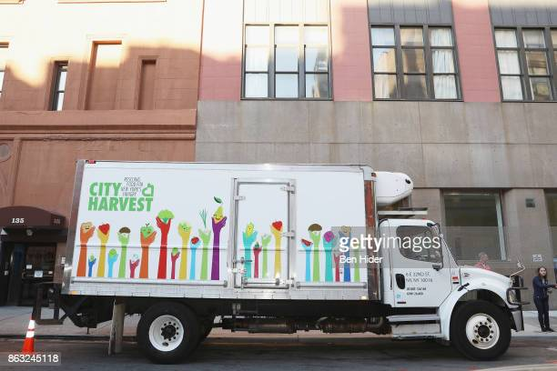 City Harvest truck is seen during City Harvest's 23rd Annual BID at Metropolitan Pavilion on October 19 2017 in New York City