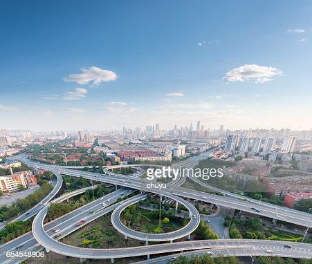 city highway interchange : Stock Photo