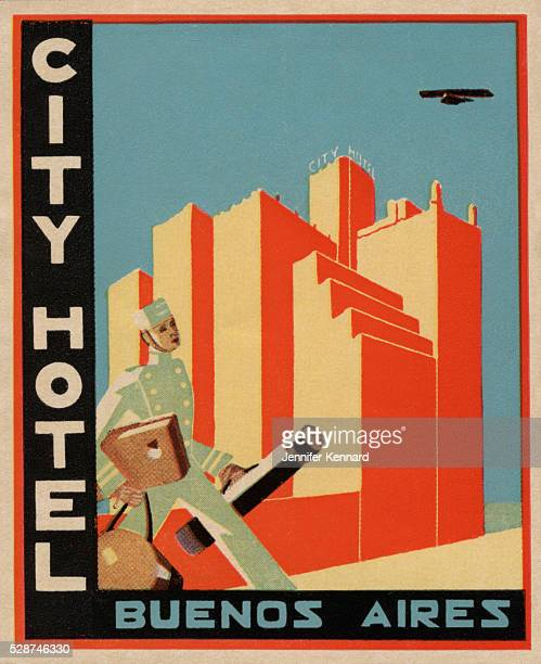 City Hotel Buenos Aires Luggage Label