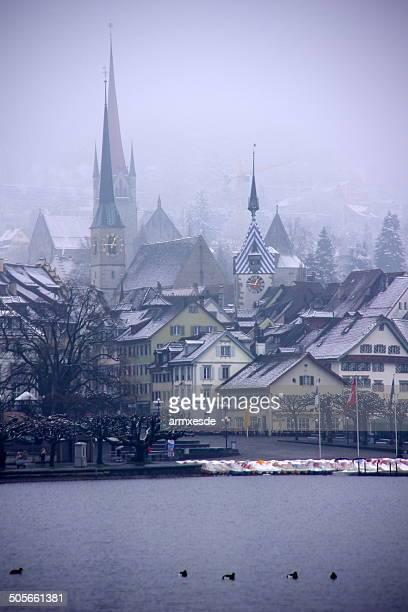 City in mist