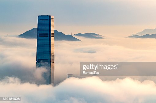 City In The Clouds : Stock Photo