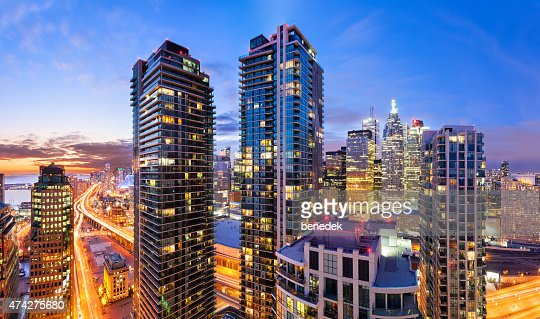 City Life Downtown Toronto Vibrant Cityscape Skyline