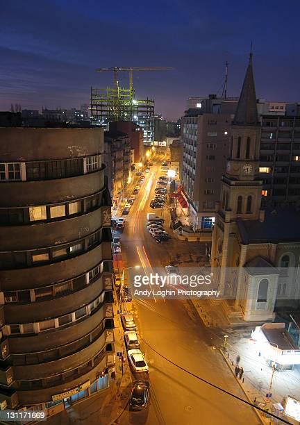 City light at night