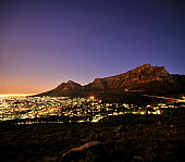City lights of Cape Town