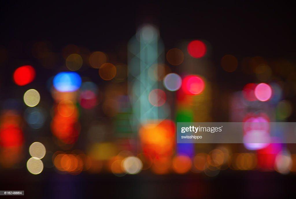 Luces de la ciudad  : Foto de stock