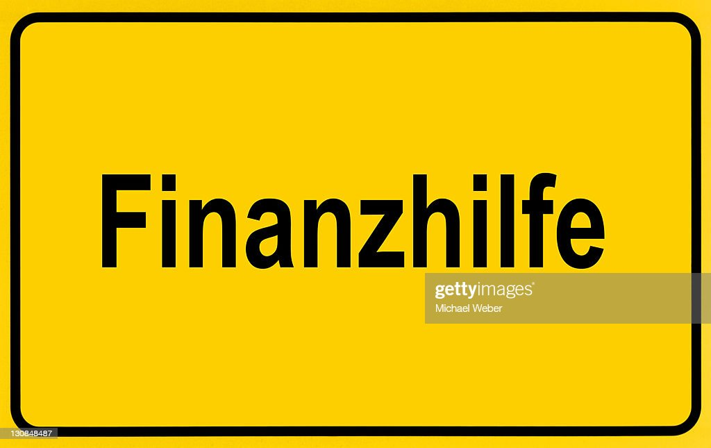 City limits sign, symbolic image, financial aids