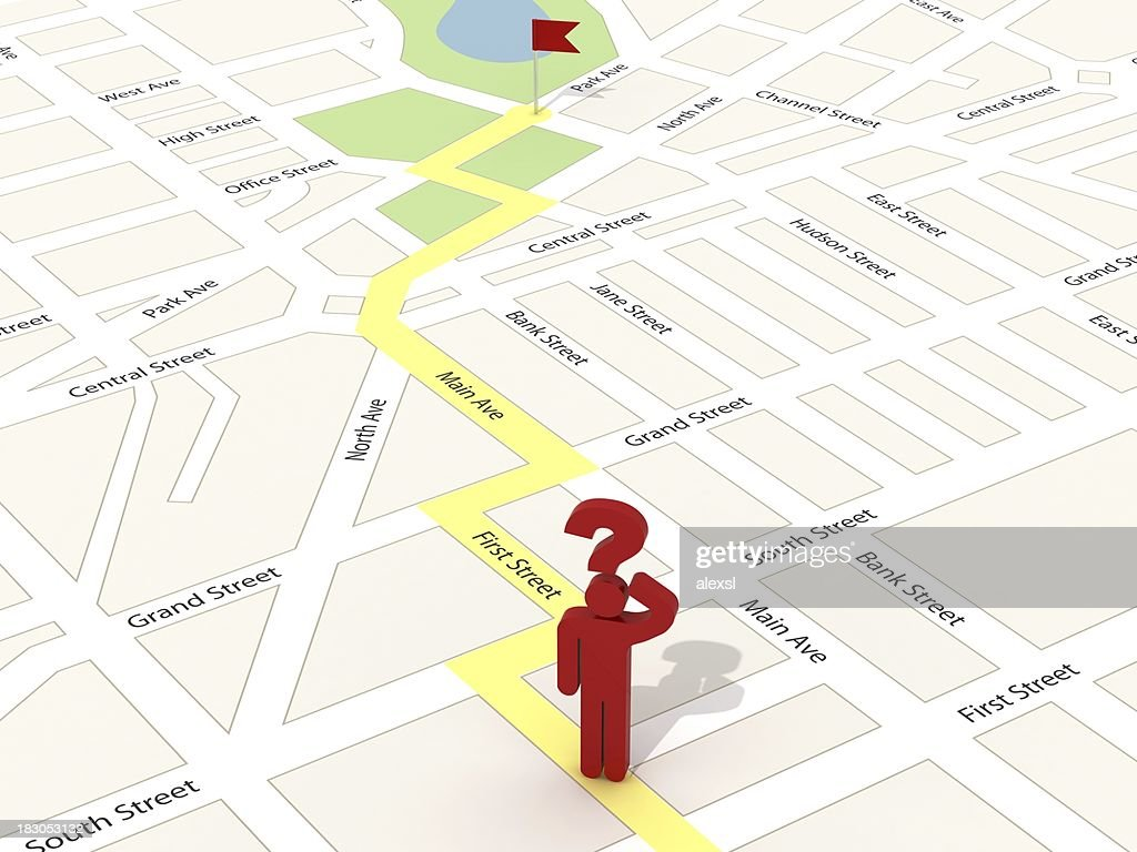 City Map Navigation : Stock Photo