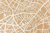 Handcut paper street map - useful as travel background