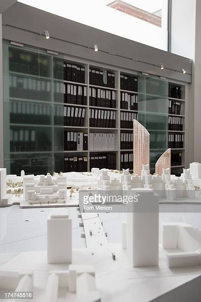 City model on table in office