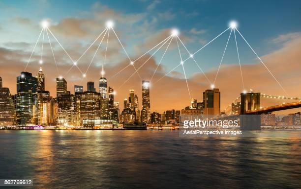 City Network of New York Skyline