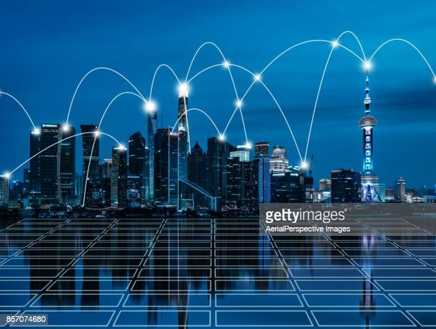 City Network of Shanghai Skyline