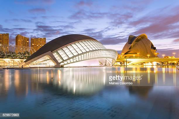 City of arts and science at dusk, Valencia