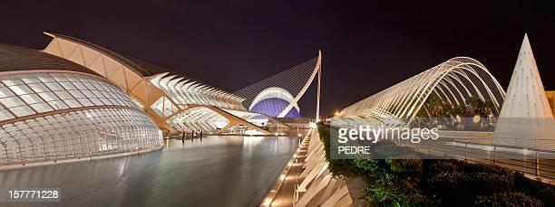 A Cidade das Artes e Ciências à noite