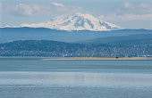 """""""City of Bellingham with Mt Baker in the background.Washington, USA"""""""