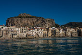 City of Cefalu with Rocca in the background