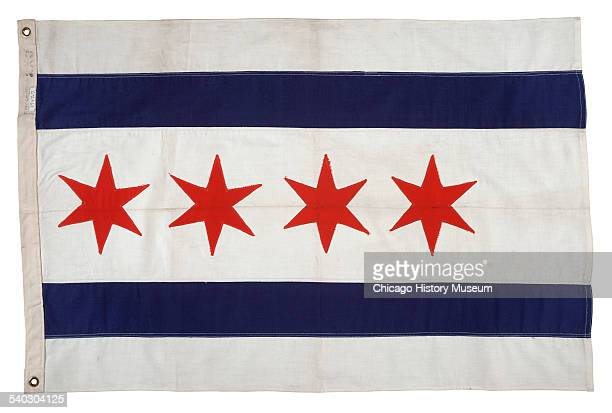 City of Chicago cotton flag Chicago Illinois 1947 This Chicago flag was carried around the world in the Pan American Clipper named America on the...