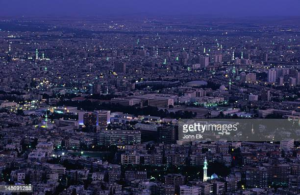 City of Damascus at night from Mount Qassioun.