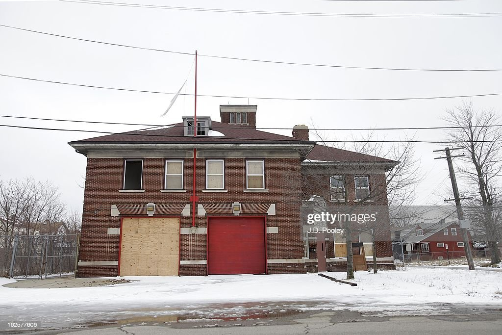 A City of Detroit fire station that was recently closed is seen February 24, 2013 in Detroit, Michigan. The city of Detroit has faced serious economic challenges in the past decade, with a shrinking population and tax base while trying to maintain essential services. A financial review team issued a finding on February 19 identifying the city as being under a 'financial emergency.' Michigan Gov. Rick Snyder has 30 days from the report's issuance to officially declare a financial emergency, which could result in the governor appointing an emergency financial manager to oversee Detroit's municipal government.