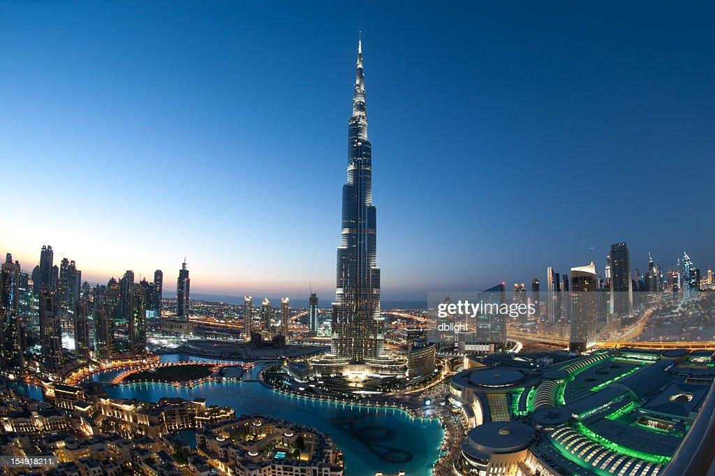 Ciudad de Dubai Burj Khalifa : Foto de stock
