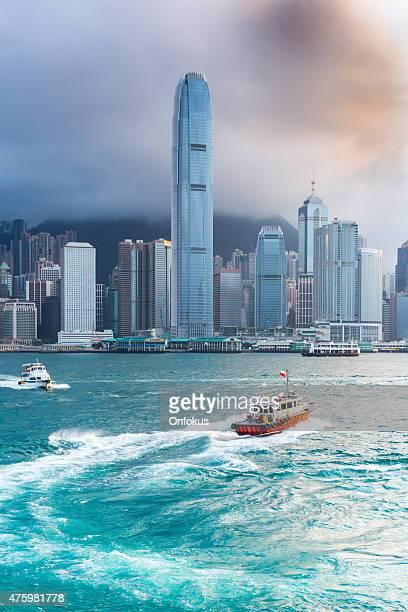 City of Hong Kong During Day With Boats, China