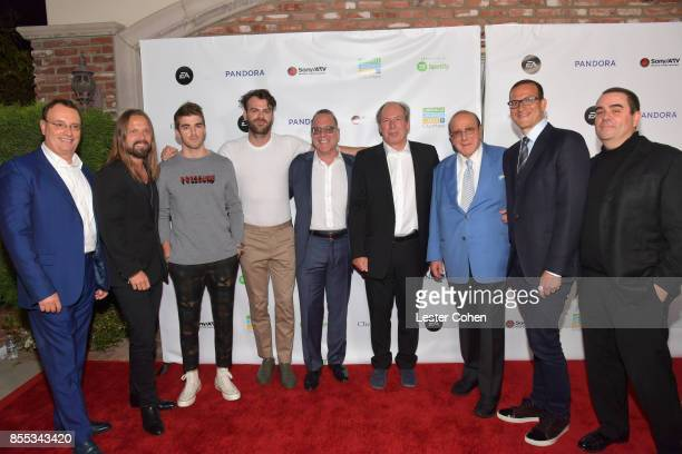 City of Hope CoChair David Renzer Record producer Max Martin Musicians Andrew Taggart and Alex Pall of The Chainsmokers City of Hope CoChair Steve...