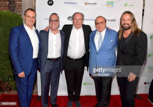 City of Hope CoChairs David Renzer and Steve Schnur Composer Hans Zimmer Record producers Clive Davis and Max Martin at City of Hope's Music Film and...