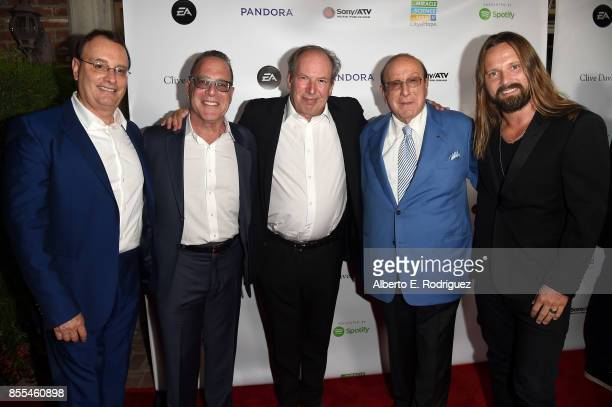 R City of Hope CoChairs David Renzer and Steve Schnur Composer Hans Zimmer Record producers Clive Davis and Max Martin attend City of Hope's Music...