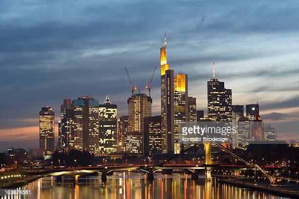 Stadt der Lichter, Frankfurt, Deutschland, die Skyline