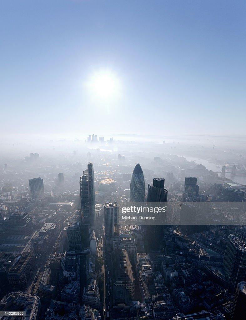 City of London aerial : Stock-Foto