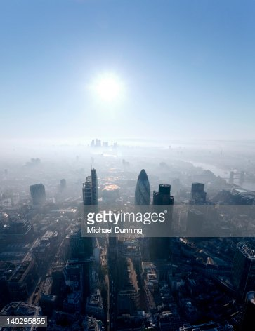City of London aerial : Foto stock