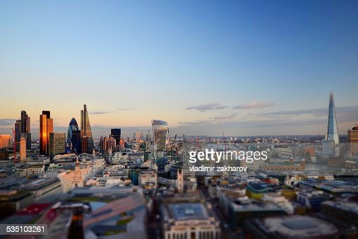 City of London brand new skyline 2014