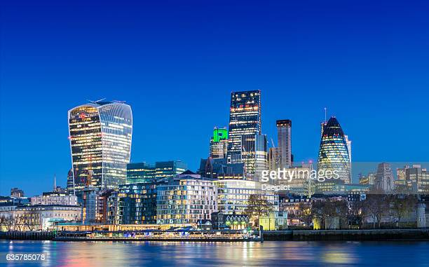 City of London Downtown Skyline at twilight, United Kingdom
