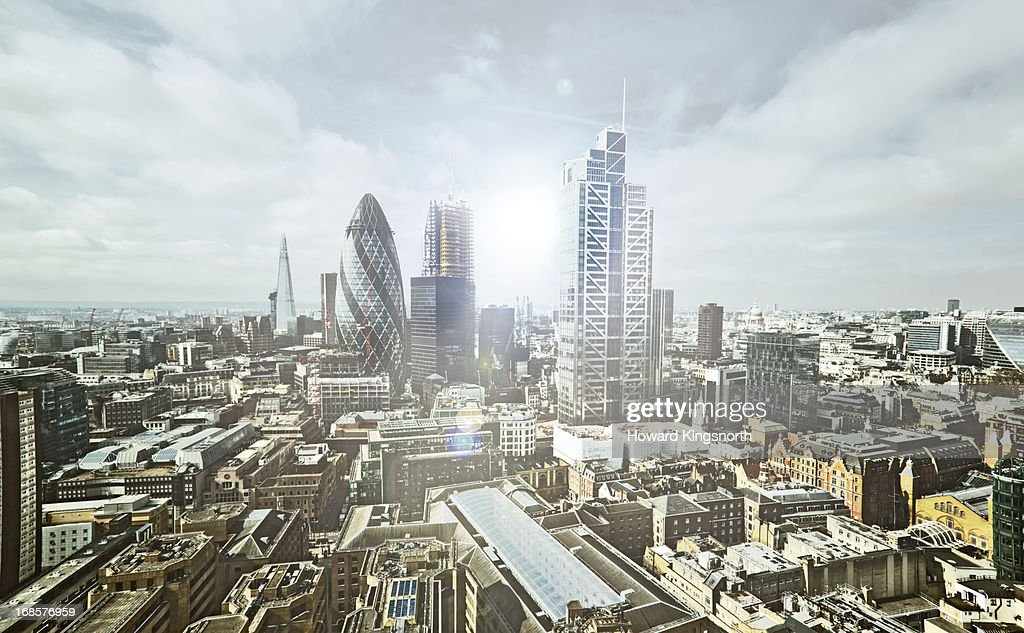 City of London elevated view : Stock Photo