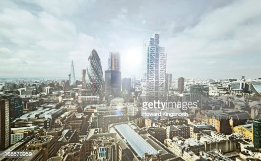 City of London elevated view : Stockfoto