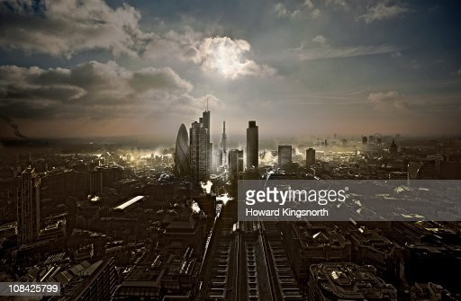 City of London facin South : Foto de stock