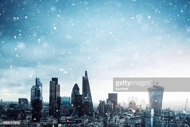 Cidade de Londres na neve