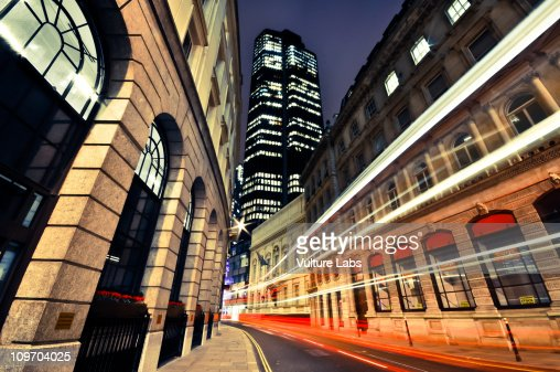 City of London Light Trails