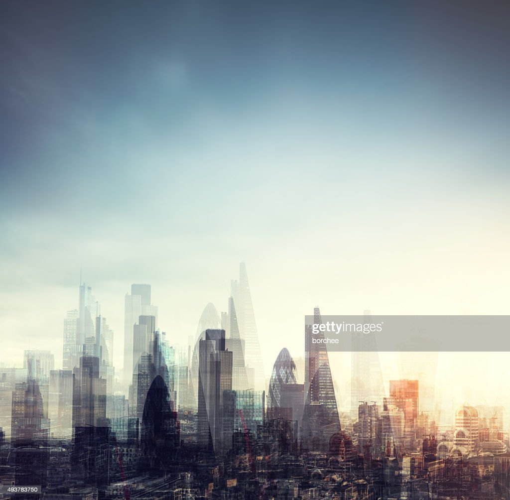City Of London Multiple Exposure : Stock Photo