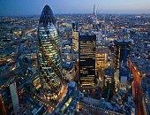 City of London Skyline At Sunset, United Kingdom