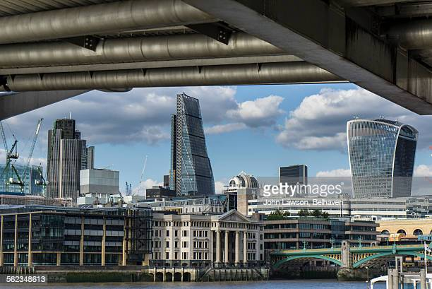 City of London under Millennium Bridge